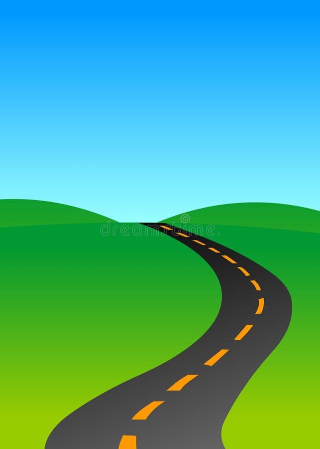 Open roadway royalty free illustration