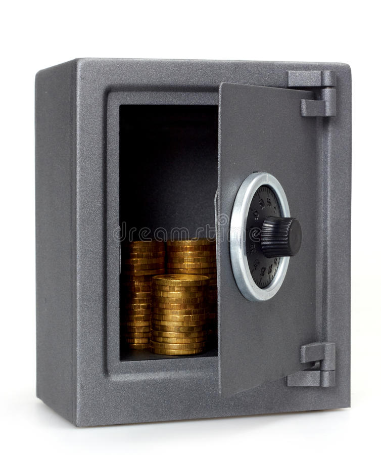 Download Open safe with coins stock image. Image of business, isolated - 19960163