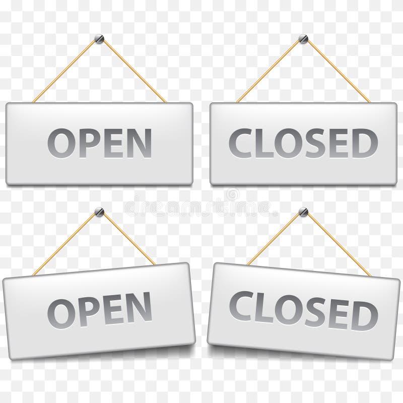 Open schloss Zeichen auf weißem Vektor stock abbildung