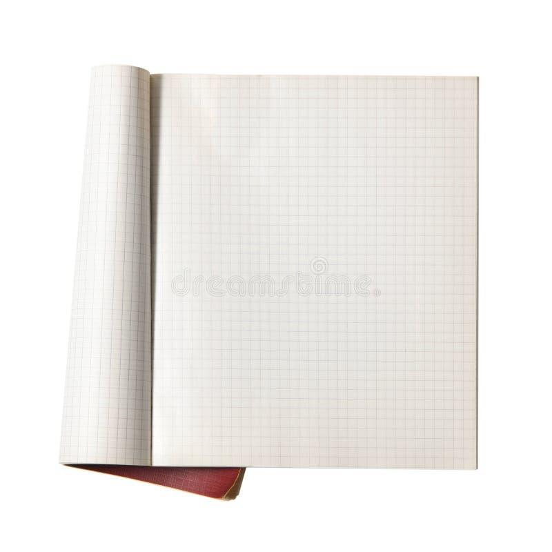 Open schrijven-boek stock afbeelding