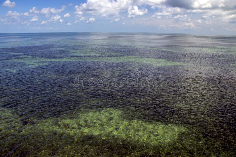 Open sea with blue sky stock image