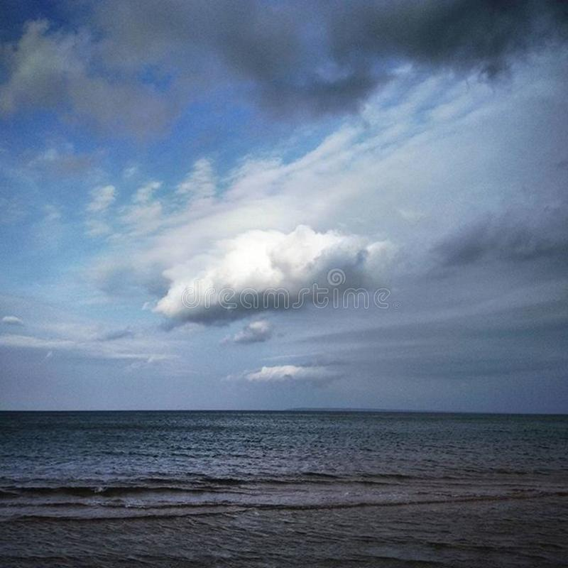 Open sea and clouds royalty free stock image