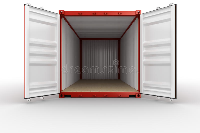 Download Open shipping container stock illustration. Image of industry - 21512340