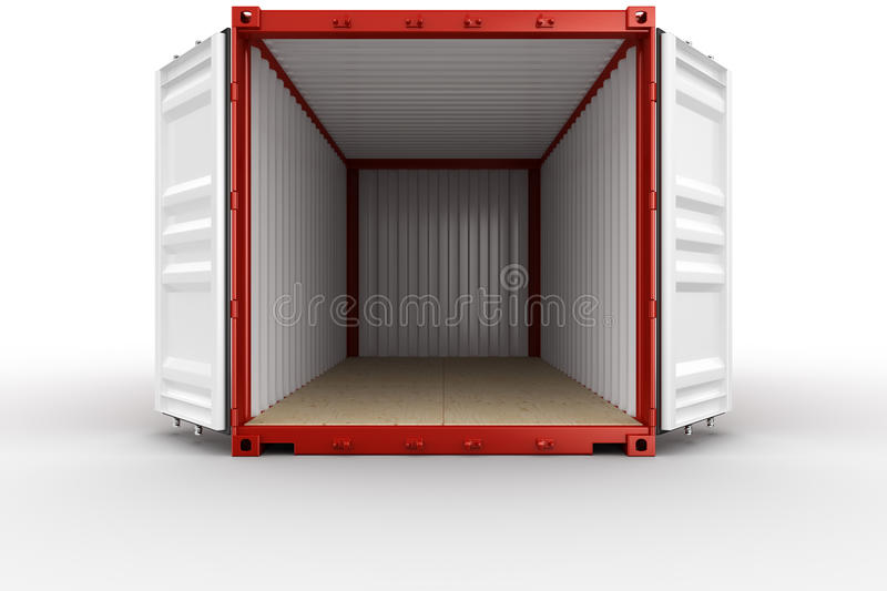 Open shipping container