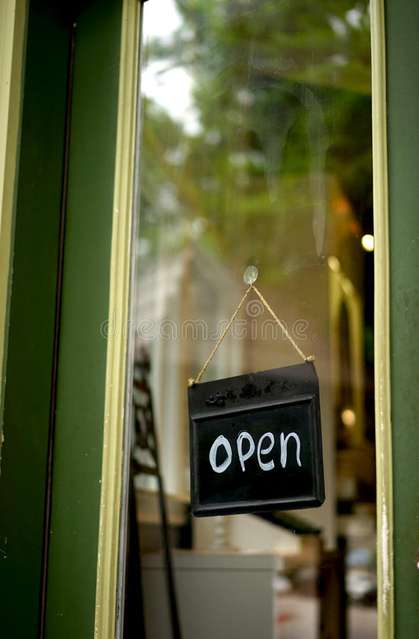 Open shop sign. This retail shop is open for business royalty free stock photos