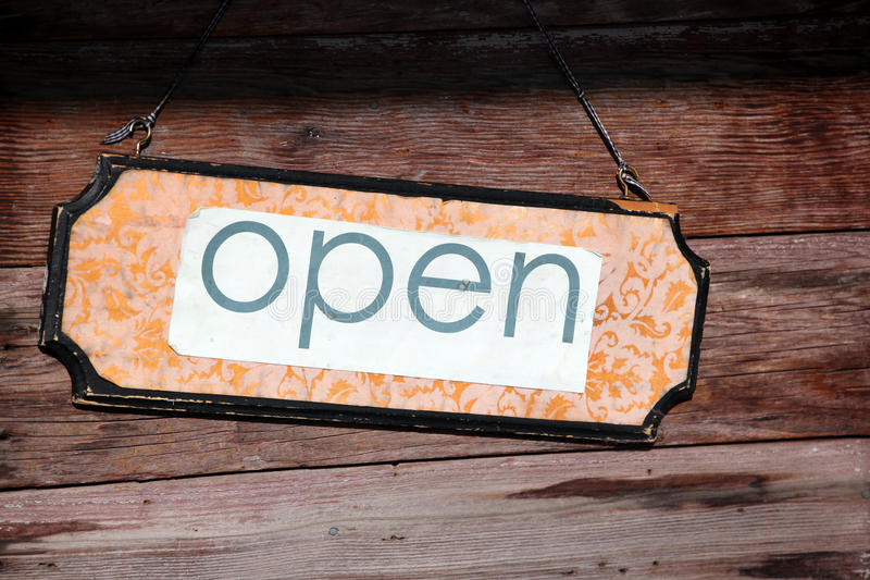 Download Open sign. stock photo. Image of operations, sign, merchant - 16955420