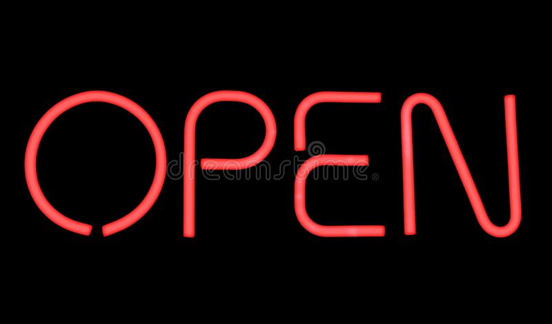 Open Sign. stock image