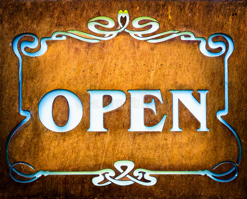 Download Open sign stock image. Image of commercial, nobody, elegance - 31141185