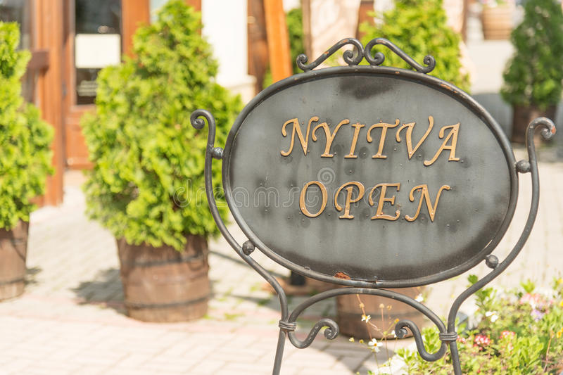 Open sign stock photo