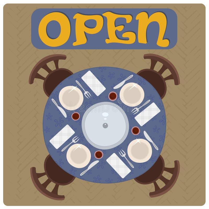 Open sign. vector illustration