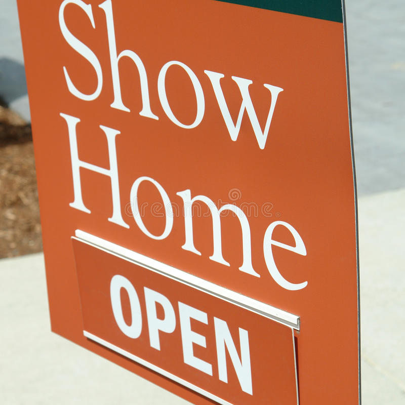 Open Sign Show Home Royalty Free Stock Image