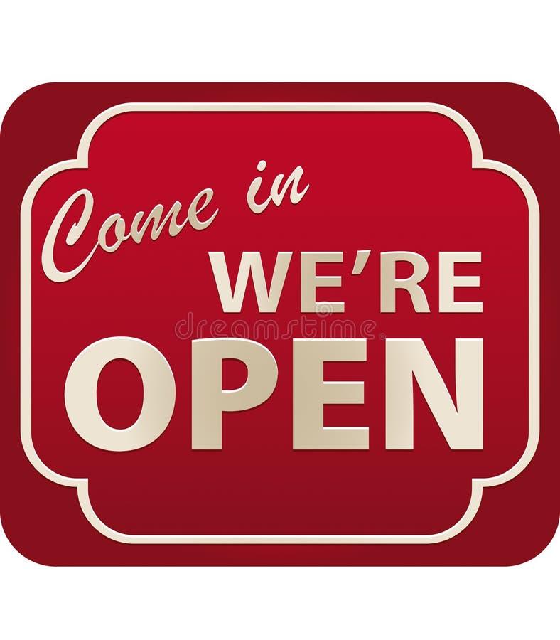 Free Open Sign (vector) Royalty Free Stock Photos - 4777858