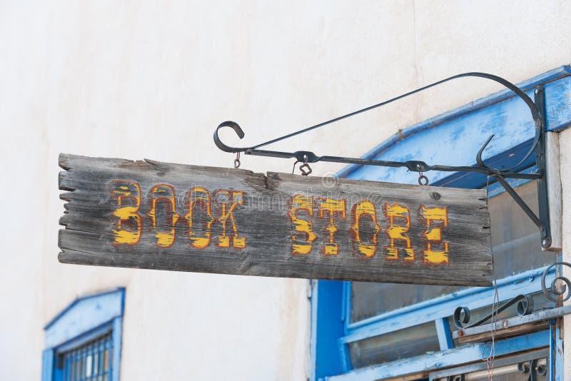 Open signBookstore stock image