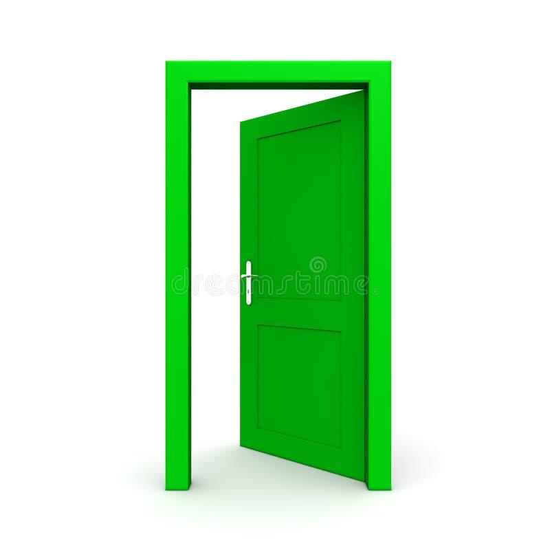 Open Single Green Door Royalty Free Stock Images