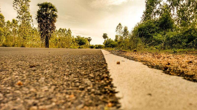 Open Sky in village road royalty free stock images
