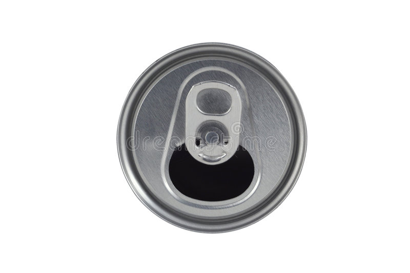 Open soda can lid on white background. A Open soda can lid on white background stock photo