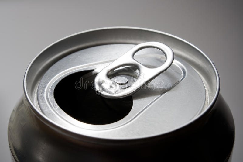 Open soda can top. A closeup shot of a soda can top royalty free stock photos