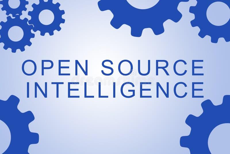 Open Source Intelligence concept stock illustration