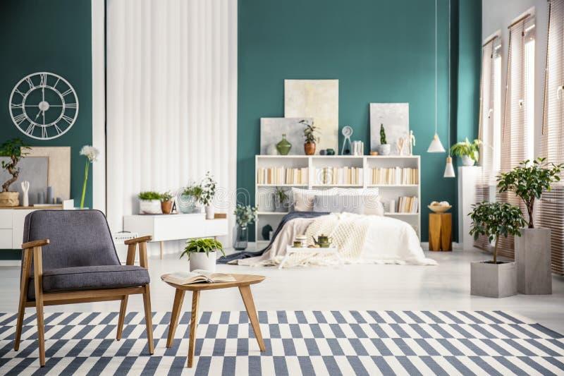 Open space interior with armchair stock photos