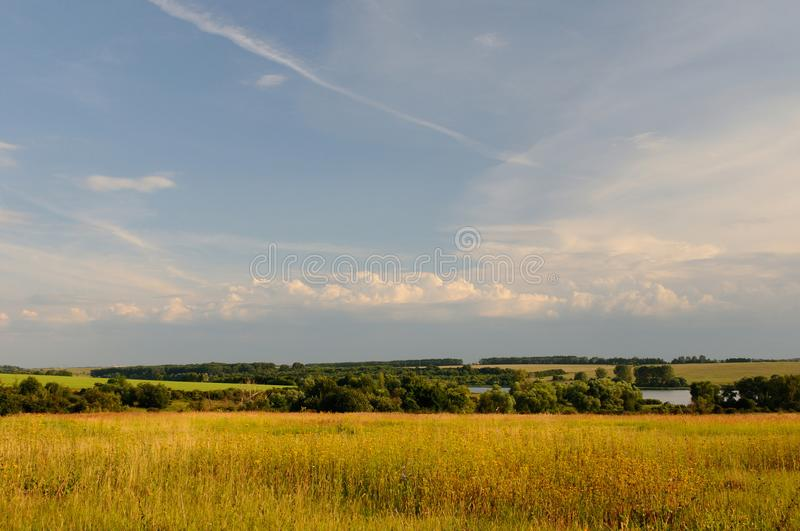 Open spaces and skies stock photo