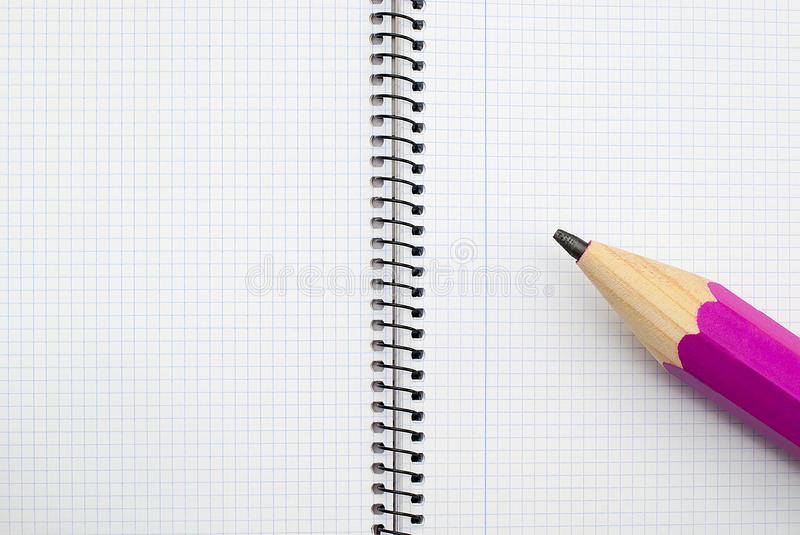 Open spiral notebook royalty free stock photo