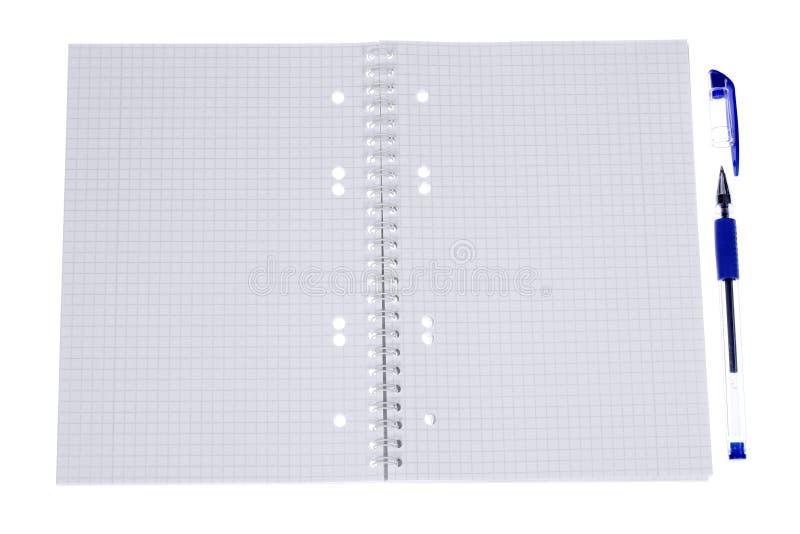 Open spiral notepad stock photos
