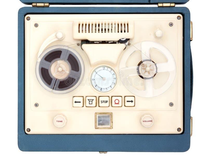 Open Spoelbandrecorder stock afbeelding