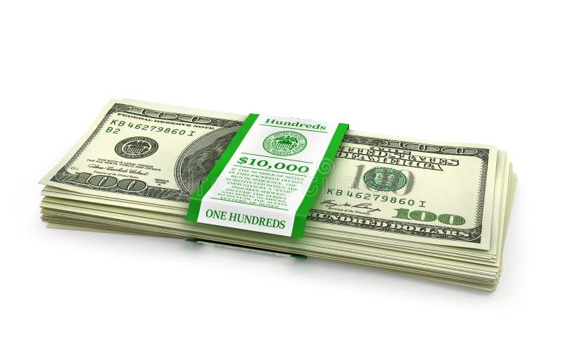 Open stack of US Dollars. vector illustration