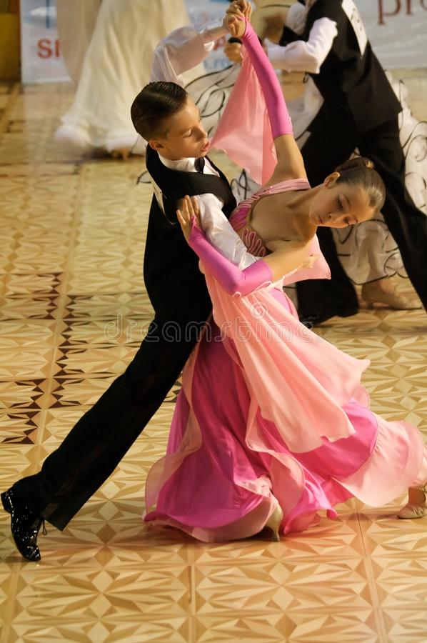 Download Open Standard Dance Contest, 12-13 Years Old Editorial Stock Photo - Image: 11605778