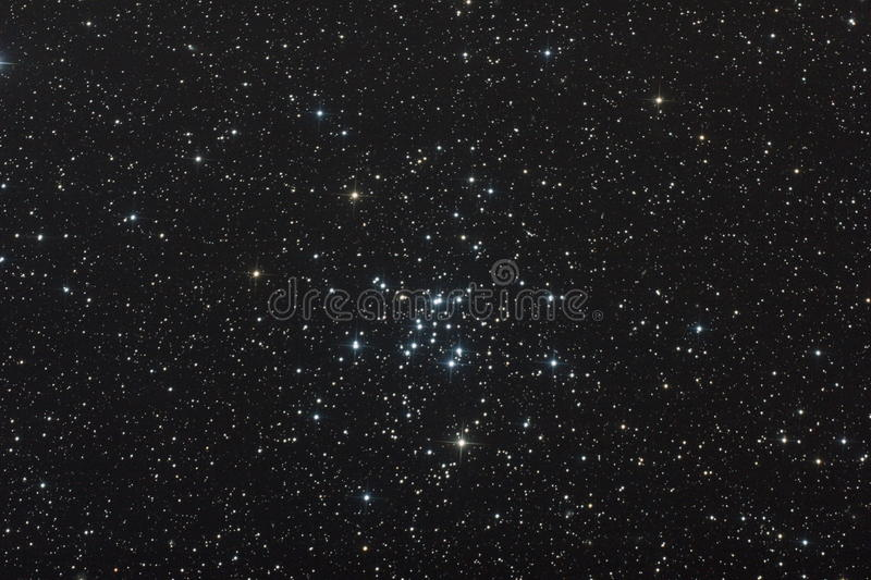 Open star cluster. M34 open star cluster , my astrophotography trough SW 200/1000 telescope royalty free stock photos