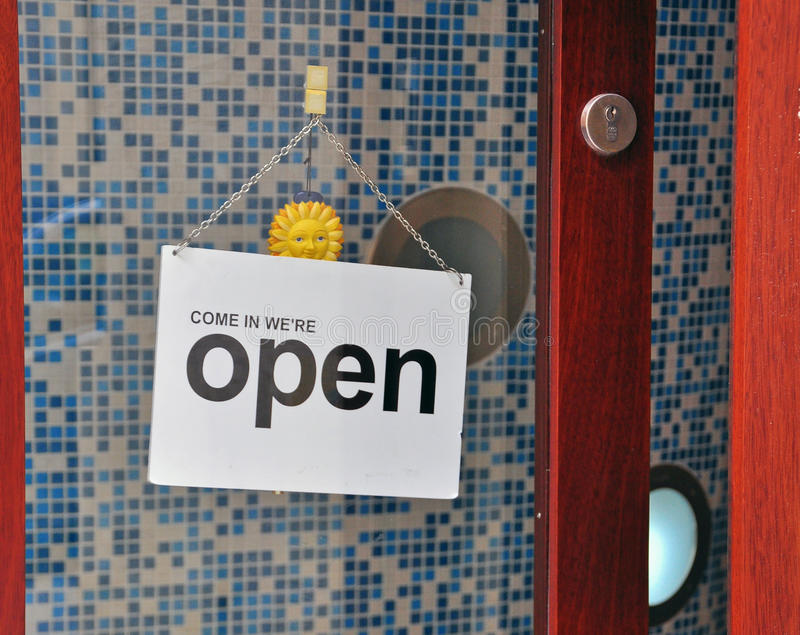 Download Open store sign stock image. Image of cafe, sign, hanging - 41293279