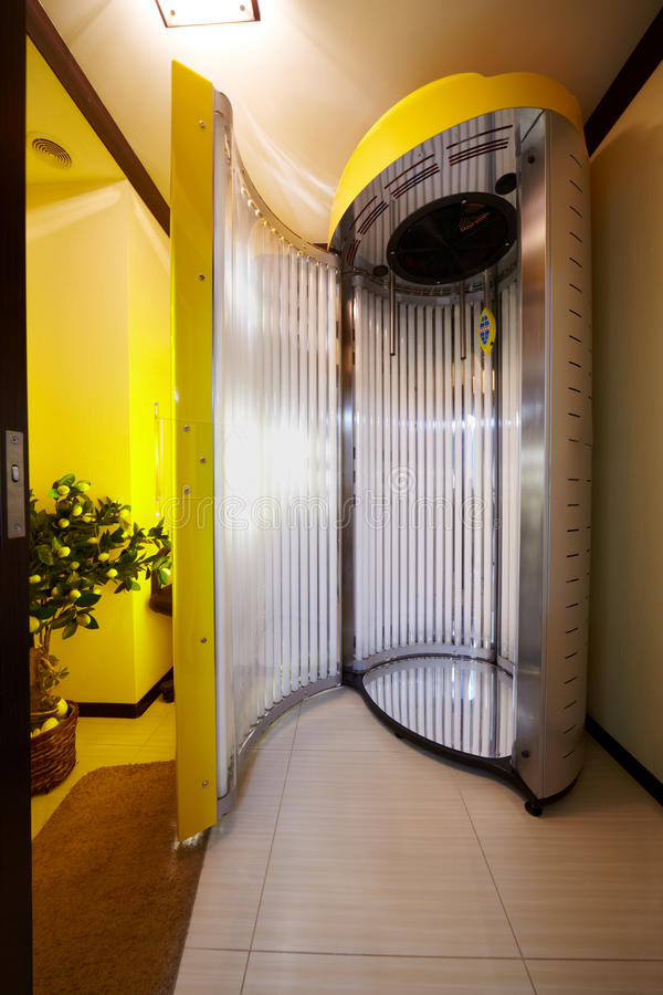 Download Open tanning booth stock image. Image of brown, glamor - 25446855