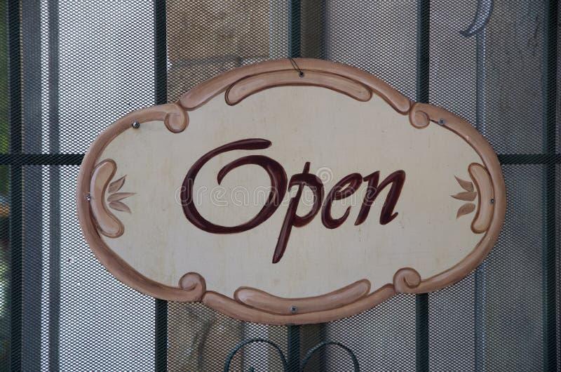 Open Teken stock foto