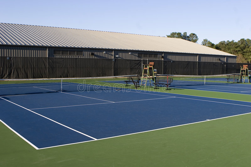 Open Tennisbanen stock afbeeldingen