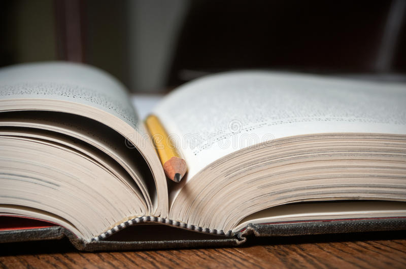 Open text book royalty free stock photography