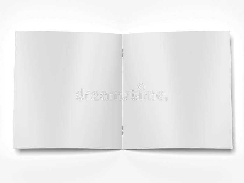 Open tijdschrift royalty-vrije illustratie
