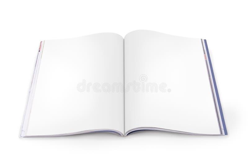 Open Tijdschrift met Blanco pagina's stock afbeeldingen