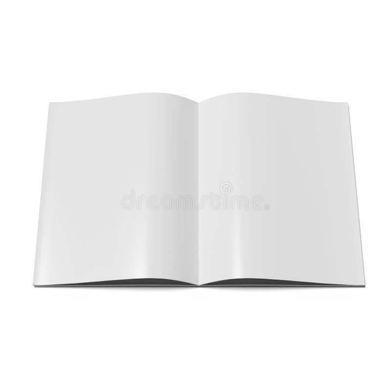 Open tijdschrift met blanco pagina's. royalty-vrije illustratie