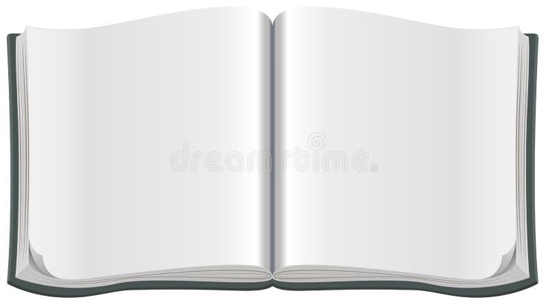 Open tijdschrift met een schoon leeg blad stock illustratie