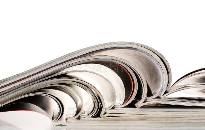 Open tijdschriften royalty-vrije stock fotografie