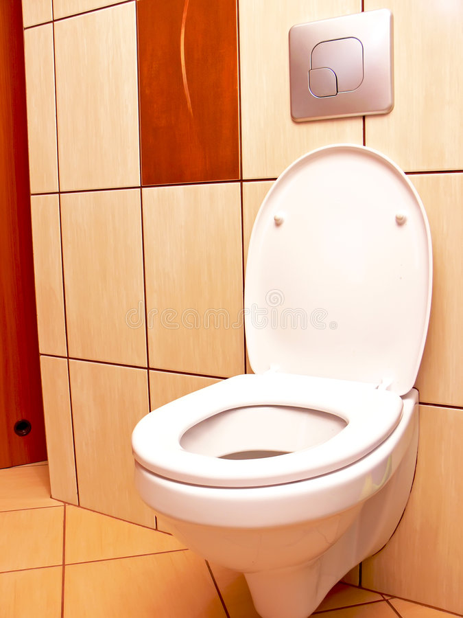 Download Open toilet stock image. Image of bowl, decor, handle - 7657229