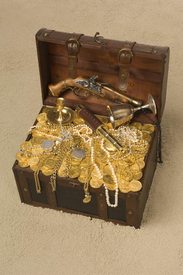 Open Treasure Chest stock photo
