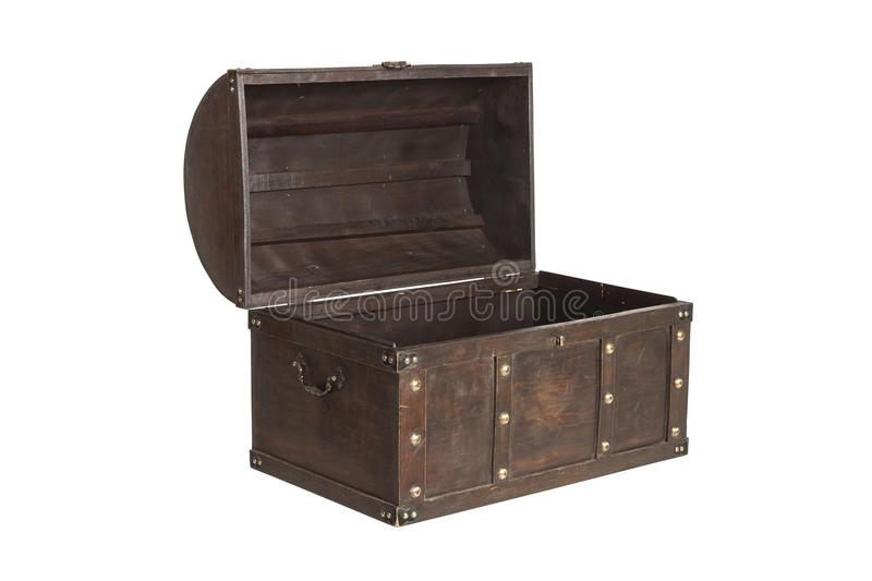 Open treasure chest isolated royalty free stock images
