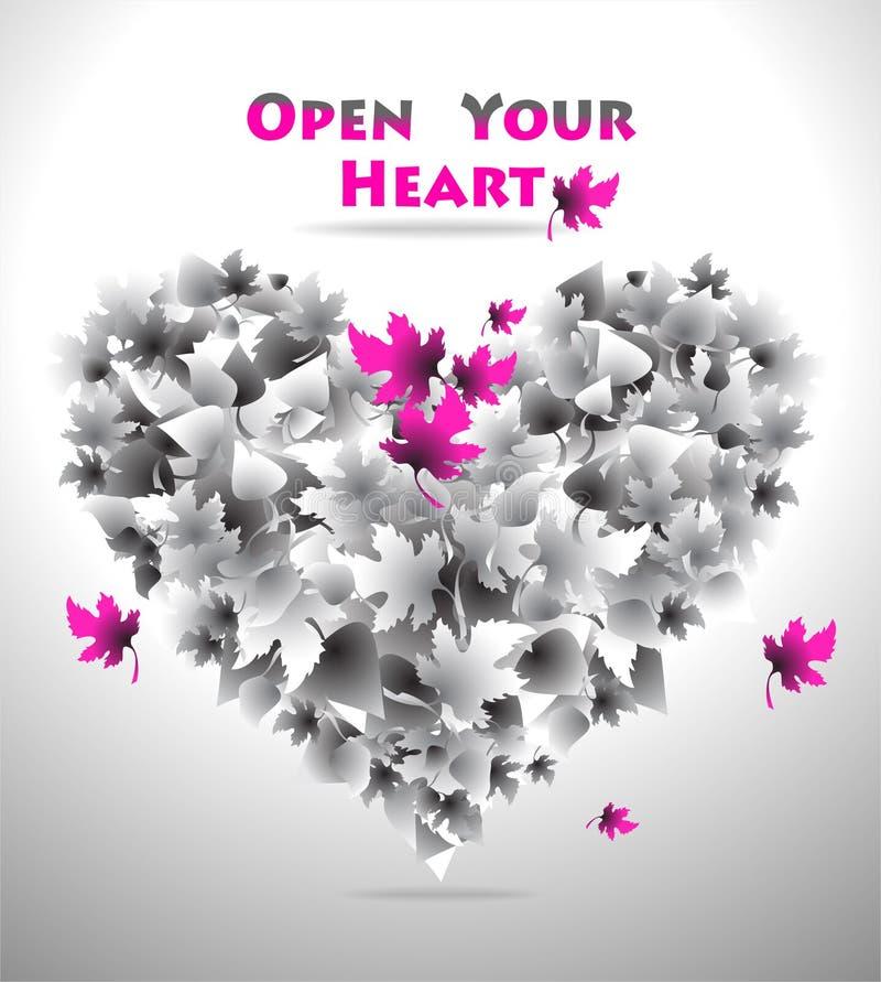 Open Uw Hart stock illustratie