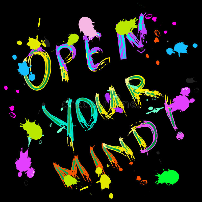 Open uw kleurrijke kaart van de meningsgroet vector illustratie