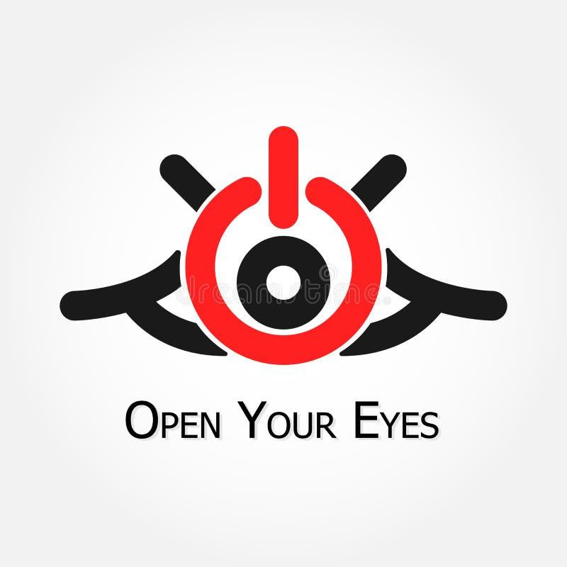 Open Uw Ogen (zet/van symbool aan) royalty-vrije illustratie