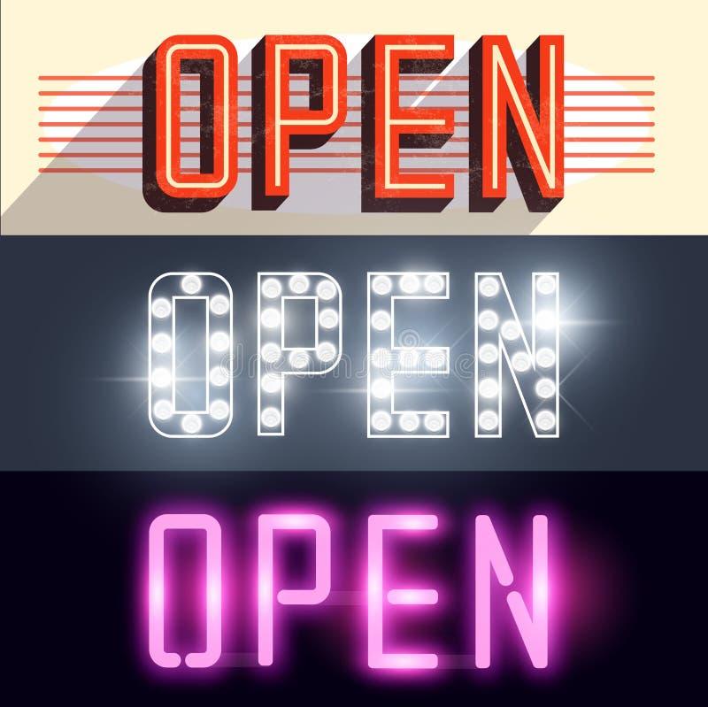 Open Vectortekens royalty-vrije illustratie