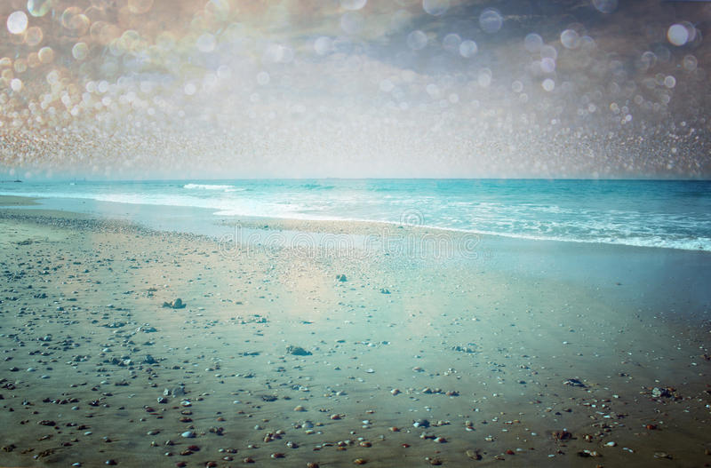 Download Open View Of Beach And Bokeh Lights Abstract Background. Dreamy Effect. Royalty Free Stock Image - Image: 35986666