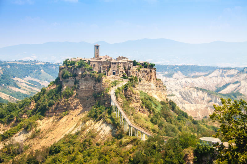 Open View Of Civita Di Bagnoreggio, Italy Stock Photo - Image of ...