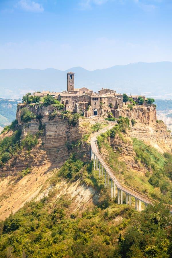 Open View Of Civita Di Bagnoreggio, Italy Stock Photo - Image of ...
